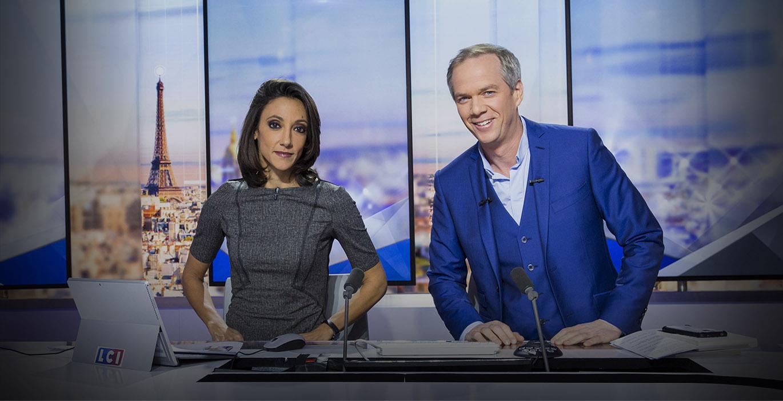 Rebecca Fitoussi et Julien Arnaud sur le plateau du Grand soir