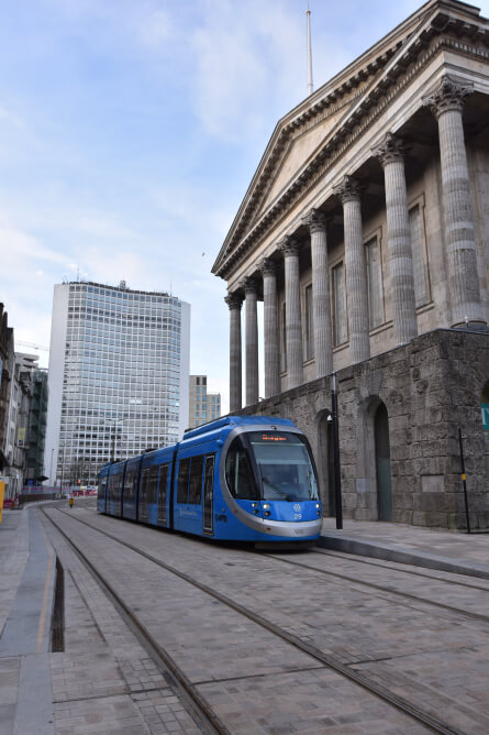 tram in burmingham