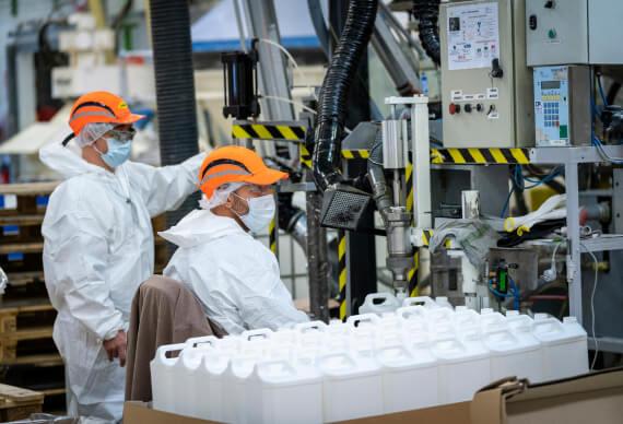 men in factory